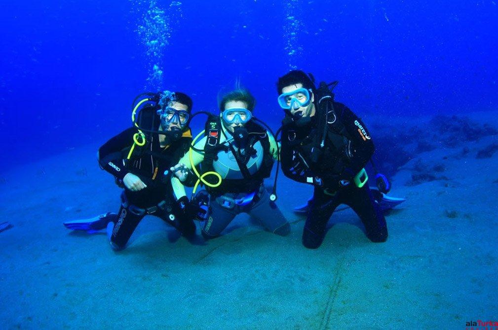 scuba diving near kas, Turkey